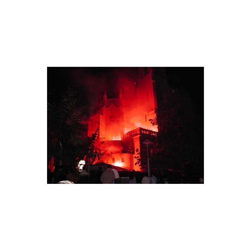 Incendi Pirotècnic i Castell de Focs