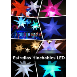 Decoracions amb estels i cons il·luminats